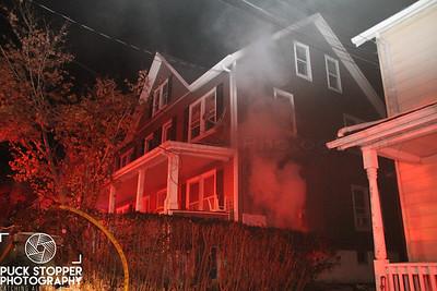SFD working a basement fire at 21 Hazel St. Dec 31, 2017.  Photos by Jon Tenca, see more at http://www.puckstopperphotography.com/p144836201