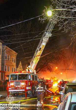 Mount Vernon FD working a second alarm house fire at 18 South 13th Ave. Feb 2, 2018.  Photos by Jon Tenca, see more at http://www.puckstopperphotography.com/p295628746