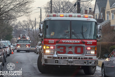 Yonkers FD working a 2nd alarm house fire at 199 Kimball Terrace. Feb 10, 2018.  Photos by Jon Tenca, see more at http://www.puckstopperphotography.com/p732316491.