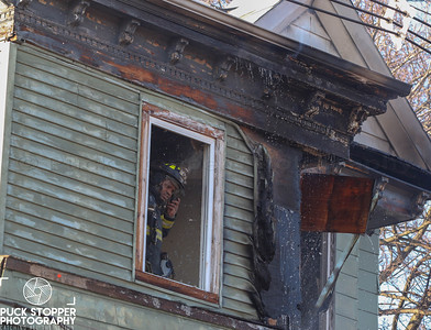 Irvington FD working a second alarm house fire at 441 Grove St. Feb 21, 2018.  Photos by Jon Tenca, see more at http://www.puckstopperphotography.com/p582287552
