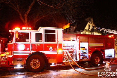 Mount Vernon FD working a third alarm fire at 137 Haven Ave. Jan 14, 2018.  Photos by Jon Tenca, see more at http://www.puckstopperphotography.com/p331084377