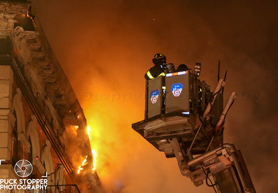 FDNY 2nd Alarm Apartment Building Fire at 570 St Marys St. Jan 23, 2018.  Photos by Jon Tenca, see more at http://www.puckstopperphotography.com/p191667669
