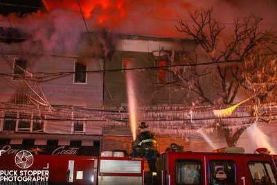 Newark FD 3rd Alarm Multiple Homes on fire at 122 Fleming Ave. Feb 3, 2018.  Photos by Jon Tenca, see more at http://www.puckstopperphotography.com/p442745832.