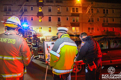 SFD working a basement fire at 136 Woodside Green. Jan 14, 2018.  Photos by Jon Tenca, See more at http://www.puckstopperphotography.com/p501497965