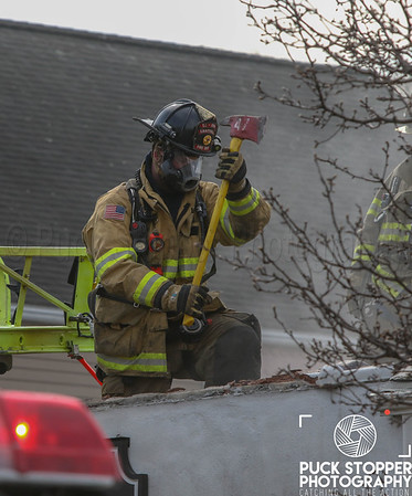 Armonk FD 2nd alarm commercial building fire at 391 Main St. March 30, 2019.