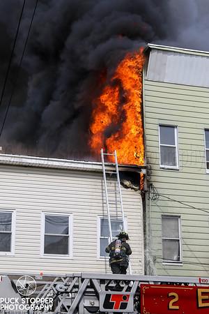 3 Alarm Dwelling Fire - 621 Franklin St, Elizabeth, NJ - 4/9/19
