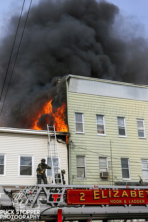 Elizabeth 3rd Alarm dwelling fire on Franklin St. 4.8.19