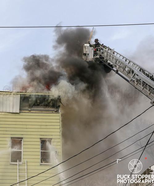 Elizabeth 3rd Alarm dwelling fire on Franklin St. 4.8.19