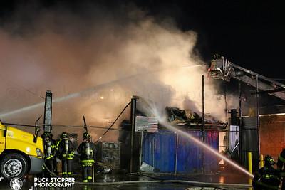 3 Alarm Pallet Yard Fire - 1160 Worthen St, Bronx, NY - 11/8/19