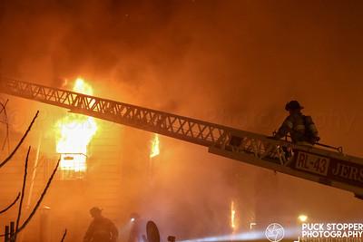Jersey City FD 3rd Alarm House Fire