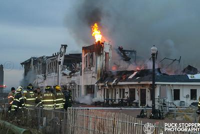 Ocean Grove 6th Alarm Commercial Building Fire on 4/14/19