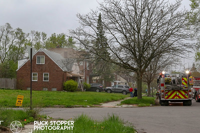 Detroit FD woring an occupied dwelling fire at 9270 Ward Ave. May 12, 2019.