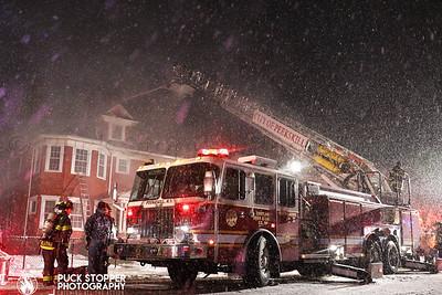 Peekskill FD Dwelling fire on Ringold St. Dec 3, 2019.