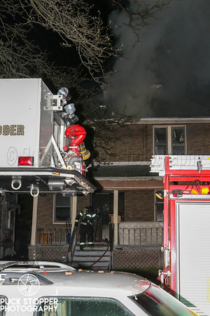 Highland Park FD working a dwelling fire at 209 Massachusetts St. May 16, 2019.
