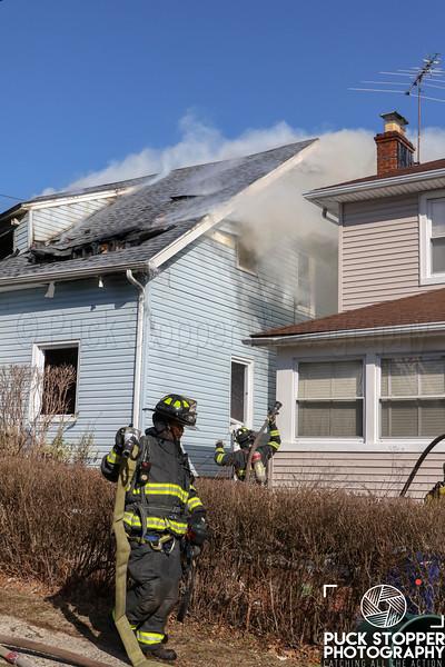 Mount Vernon House Fire on Johnston St on 2/25/19