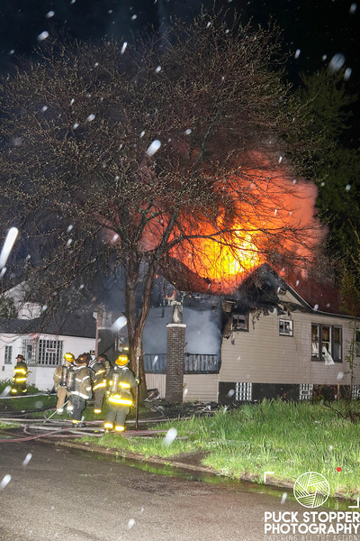 Detroit FD working an occupied dwelling fire at 12546 Dresden St. May 13, 2019.