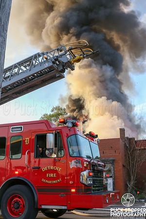Vacant Commercial Building Fire - 5812 Tireman Ave, Detroit, MI - 5/14/19