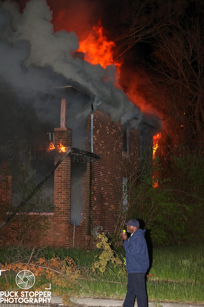 Detroit FD working a dwelling going throughout on Rosa Parks. 5/10/19