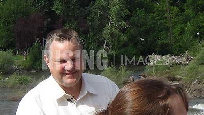 Jon Tester At Award Ceremony In Missoula, MT