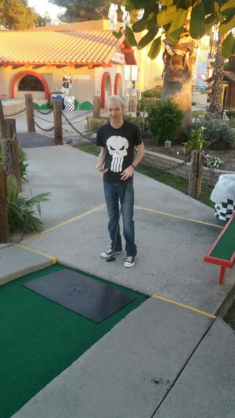 I was exposed to the delight and frustration of mini-golf. I suspect it might've been a teensy bit more fun if we had a couple beers. And if it weren't so bloody cold.