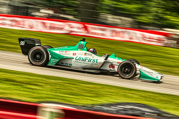 2019 Honda Indy 200 at Mid-Ohio Sportscar Course - Marco Andretti in the Honda powered #4 - Andretti Herta with Marco & Curb-Agajanian