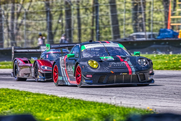 2019 Acura Sports Car Challenge at Mid-Ohio -  Patrick Long and Marco Seefried in the #73 Porsche 911 GT3 R - Park Place MotorSports AND Oliver Jarvis and Tristan Nunez in the #77 Mazda DPi - Mazda Team Joest