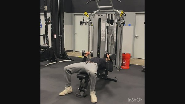 Fifth Exercise: Dumbbell Bench Press