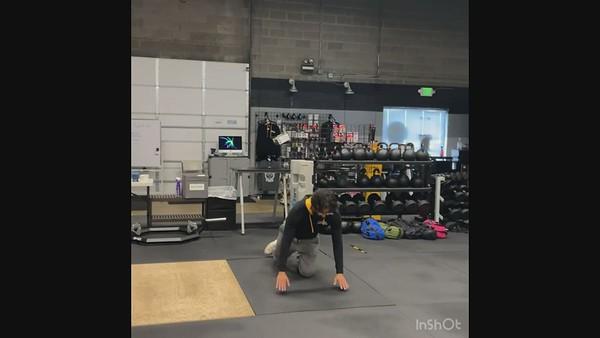 Third Exercise: Plank Wrist Taps