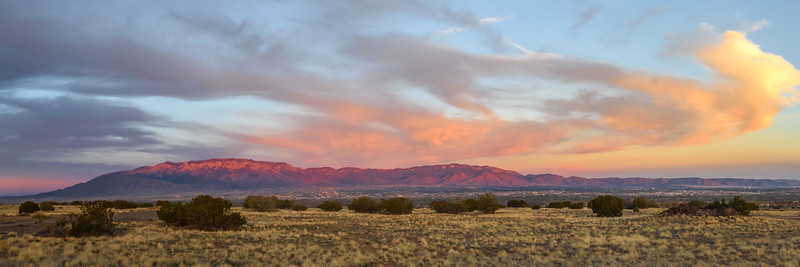 Sandia Sunset Panorama