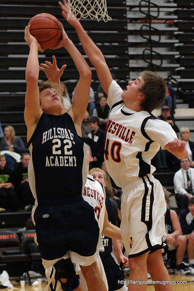 Jonesville vs Hillsdale Academy Boys Basketball