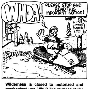 Wilderness Boundary Poster