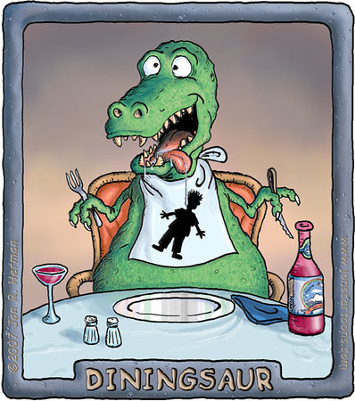 Diningsaur T-Shirt Design