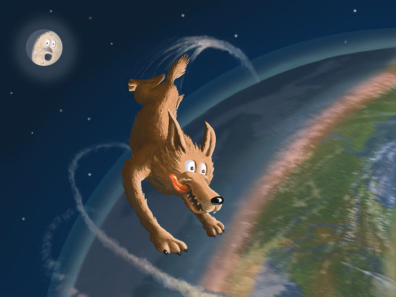 Coyote Circles the Earth
