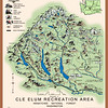 1936 Cle Elum Ranger District Recreation Map