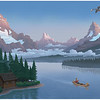 Pastoral Mountain Scene