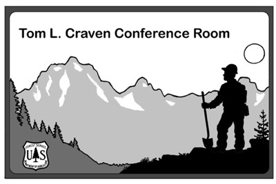 Sign for Forest Service Conference Room