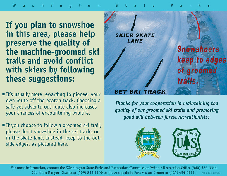 Snowshoe Ettiquette Poster; State Version