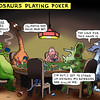 Dinosaurs Playing Poker
