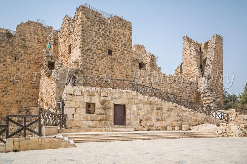 Ajlun Castle, a 12th century hilltop Muslim Castle near the village of Ajloun in northwestern Jordan.
