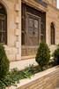 The entrance door to a Jordanian restaurant in Jerash, Hashemite Kingdom of Jordan, Middle East.