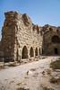 Ruins of the Kerak Castle in the Hashemite Kingdom of Jordan, Middle East.