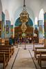 Interior architecture of the Greek Orthodox church at Madaba, Hashemite Kingdom of Jordan, Middle East.