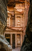 "The Treasury building in the Nabatean ""lost city"" of Petra, Hashemite Kingdom of Jordan."