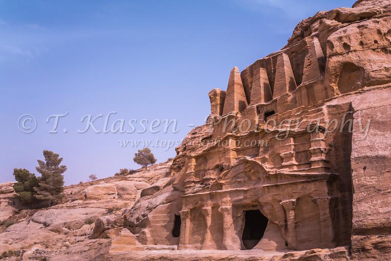 The Obelisk Tomb and Bab el-Siq Triclinium in Petra, Hashemite Kingdom of Jordan.