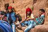 Donkey handlers at rest in Petra, Hashemite Kingdom of Jordan.