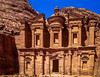 The Monastery building in the former Nabatean City of Petra, Hashemite Kingdom of Jordan.