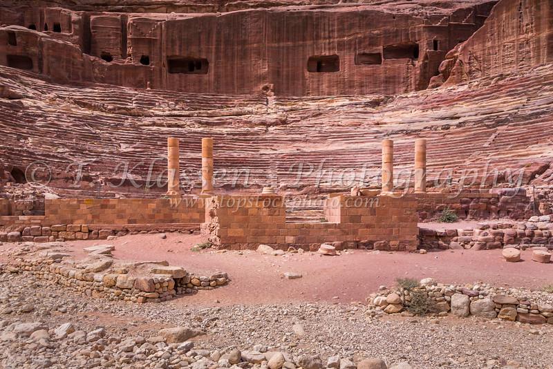 The Theater in the ruins of Petra, Hashemite Kingdom of Jordan.