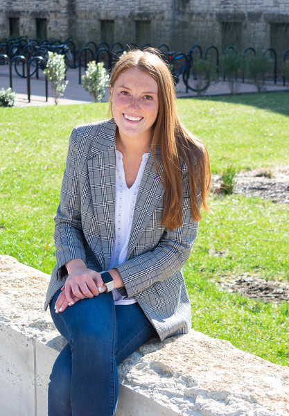 Jordan Kiel, a senior in industrial engineering, wrapped up her final moments as the Student Body President on Thursday, April 4. (Brooke Barrett | Collegian Media Group)