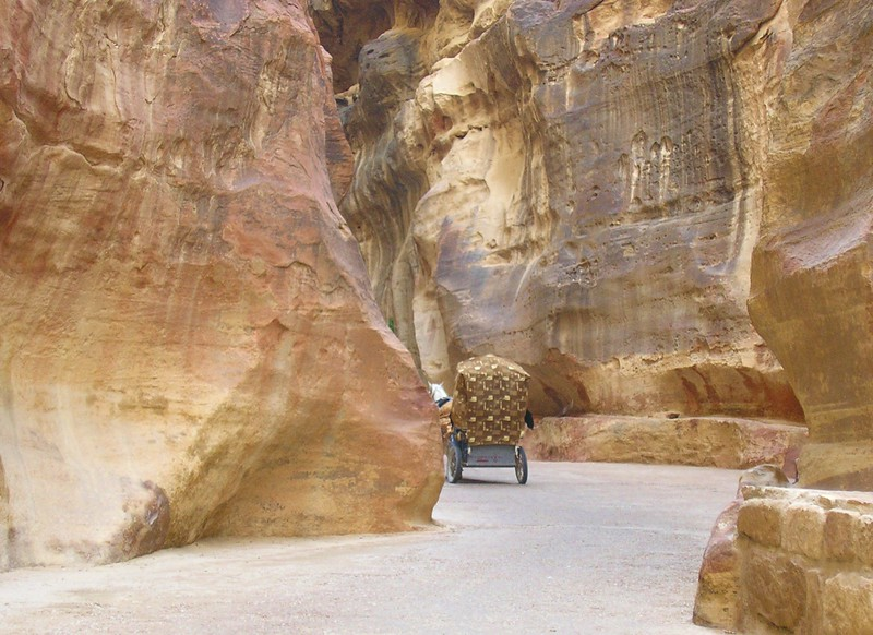 Buggy in the Siq