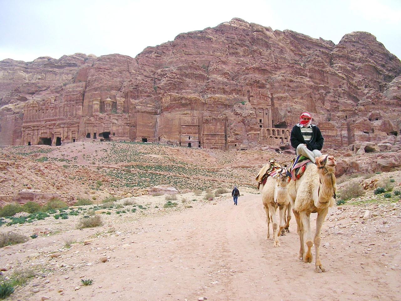 Camel Rider at the Palace Tomb